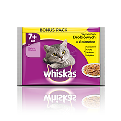 Whiskas v vrečki 7+ s Perutninski izbor 4 x 100 g
