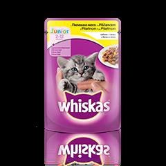 Whiskas Vrečka Junior Piščanec 100 g