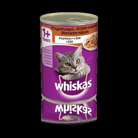 WHISKAS® konzerva v želé s morčacím 400g