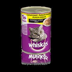 WHISKAS® konzerva s kuracím v šťave 400g