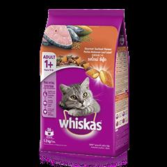 วิสกัส® แบบเม็ด แมวโต 1+ <br/>รสโกเม่ ซีฟู้ด | WHISKAS®