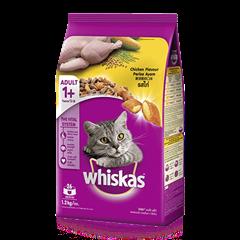 วิสกัส® แบบเม็ด แมวโต 1+ <br/>รสไก่  | WHISKAS®
