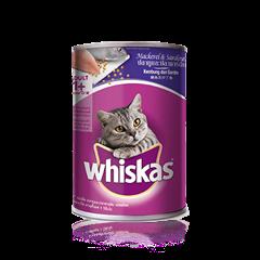 วิสกัส แบบกระป๋อง แมวโต 1 + <br/>ปลาทูและปลาซาร์ดีน