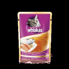 วิสกัส แบบซอง แมวโต 1+ <br/>ปลาทูและปลาแซลมอน