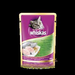 วิสกัส แบบซอง แมวโต 1+ <br/>ปลาทูน่าและปลาเนื้อขาว