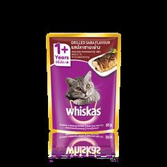 วิสกัส® แบบซอง แมวโต 1+ <br/>รสปลาซาบะย่าง | WHISKAS®