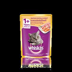 วิสกัส® แบบซอง แมวโต 1+ <br/>ทะเลรวมมิตร | WHISKAS®
