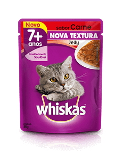 WHISKAS® Sachê Jelly Adulto 7+ Sabor Carne
