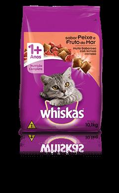 Ração para Gatos Whiskas® Sabor Peixe e Fruto do Mar 10kg