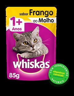 Sachê de Ração úmida para Gatos WHISKAS® Adulto Sabor Frango ao Molho