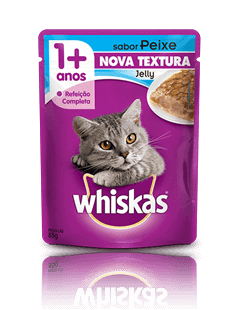 WHISKAS® Sachê Jelly Adulto Sabor Peixe