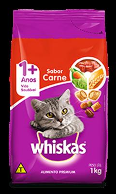 Ração Seca para Gatos WHISKAS® Adulto Sabor Carne 1kg