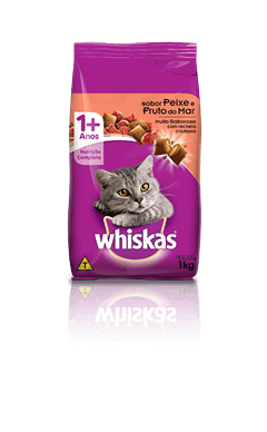 Ração para Gatos Whiskas® Sabor Peixe e Fruto do Mar 1kg