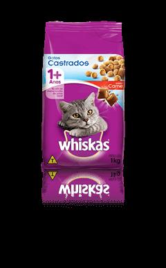 WHISKAS® Gatos Castrados Sabor Carne 1kg