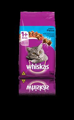 Ração para Gatos Whiskas® Sabor Peixe 1kg