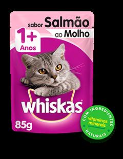 Sachê de Ração úmida para Gatos WHISKAS® Adulto Sabor Salmão ao Molho