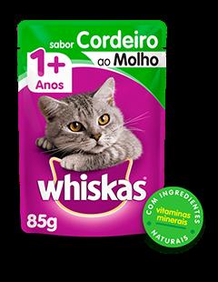 Sachê de Ração úmida para Gatos WHISKAS® Adulto Sabor Cordeiro ao Molho