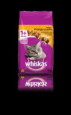 Ração para Gatos Whiskas® Sabor Frango e Leite 1kg