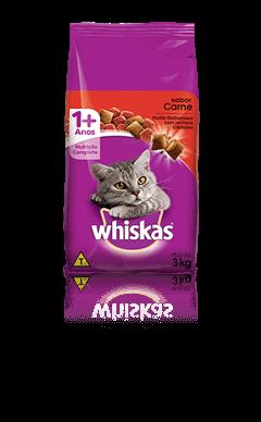 Ração para Gatos Whiskas® Sabor Carne 3kg