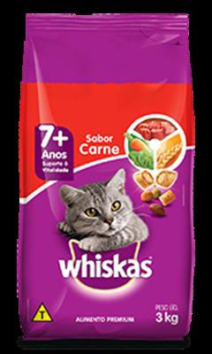 Ração Seca para Gatos Idosos WHISKAS® Sênior Sabor Carne 3kg