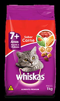 Ração Seca para Gatos Idosos WHISKAS® Senior Sabor Carne 1kg