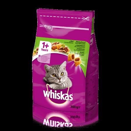 WHISKAS® Смачні подушечки з ягням для дорослих котів, 300 г