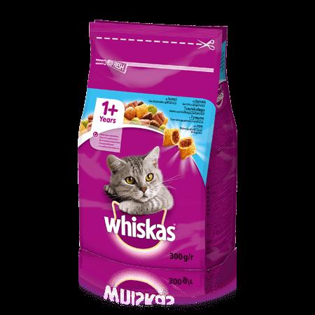 WHISKAS® Смачні подушечки з тунцем для дорослих котів, 300 г