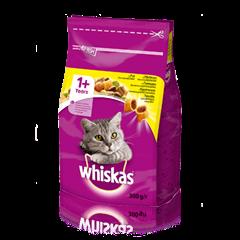 WHISKAS® Смачні подушечки з курятиною для дорослих котів, 300 г
