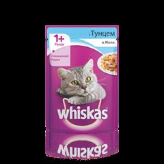 WHISKAS® з тунцем у желе для дорослих котів, 100 г