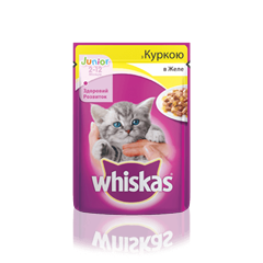 WHISKAS® з куркою в желе для кошенят, 100 г