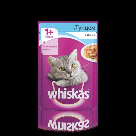 WHISKAS® с тунцом в желе для взрослых кошек, 100 г
