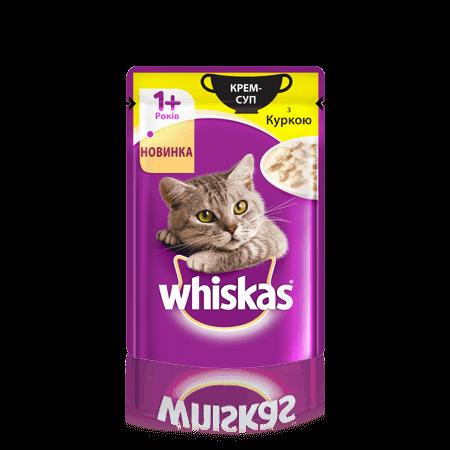 WHISKAS®  Крем-суп с курицей для взрослых кошек, 85 г