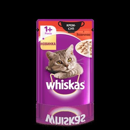 WHISKAS®  Крем-суп с говядиной для взрослых кошек, 85 г