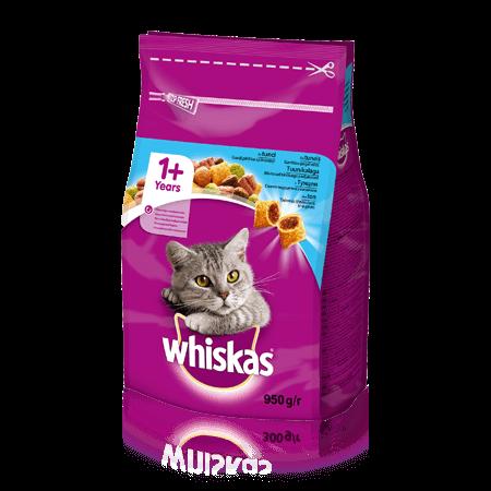 WHISKAS® Вкусные подушечки с тунцом для взрослых кошек, 950 г