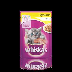 WHISKAS® с курицей в желе для котят, 100 г