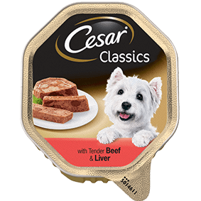 CESAR Classics Dog Tray with Beef and Liver 150g