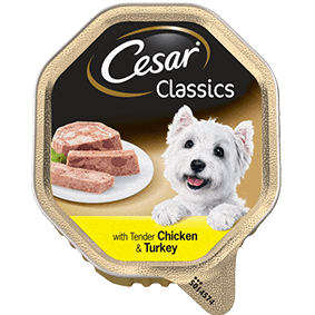 CESAR Classics Dog Tray with Chicken and Turkey 150g