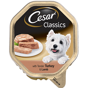 CESAR Classics Dog Tray with Turkey and Lamb in Loaf 150g