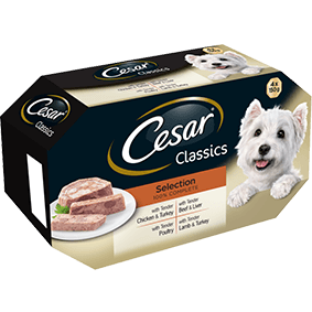 CESAR Classics Dog Trays Mixed Selection 4 x 150g