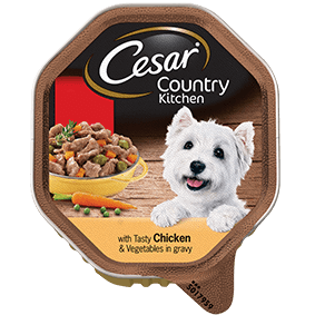CESAR Country Kitchen Dog Tray with Chicken & Vegetables in Gravy 150g