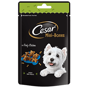 CESAR Mini-Bones Dog Treats Beef & Chicken 75g