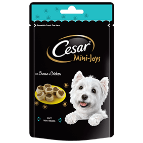 CESAR Mini-Joys Dog Treats Cheese & Chicken 100g