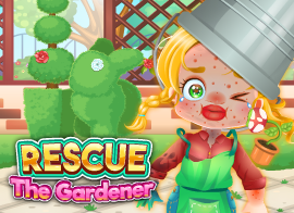 Funny Rescue The Gardener