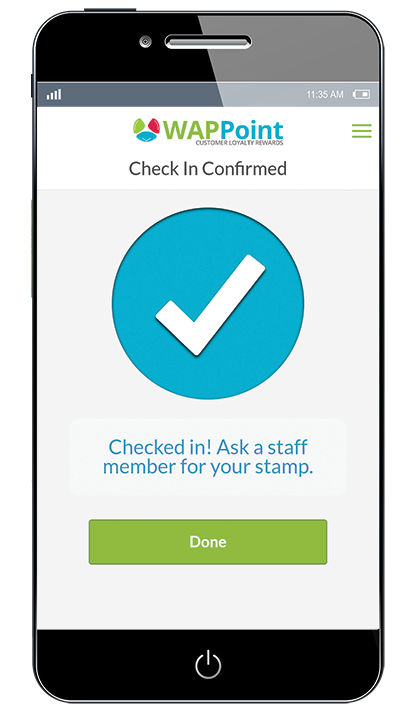 wappoint loyalty app check in