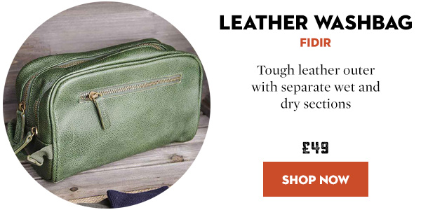FIDIR Leather Washbag