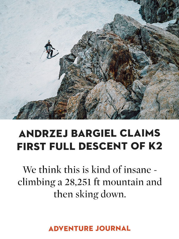 Pole Claims First Full Descent of K2