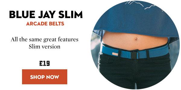 Arcade Belts - Blue Jay Slim Adventure Belt
