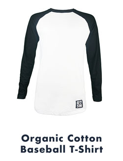 Organic Cotton Baseball Top