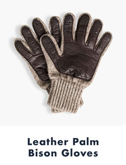 Leather Palm Bison Gloves