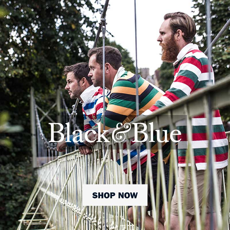 Black & Blue | Heavy Cottom Rugby Shirts